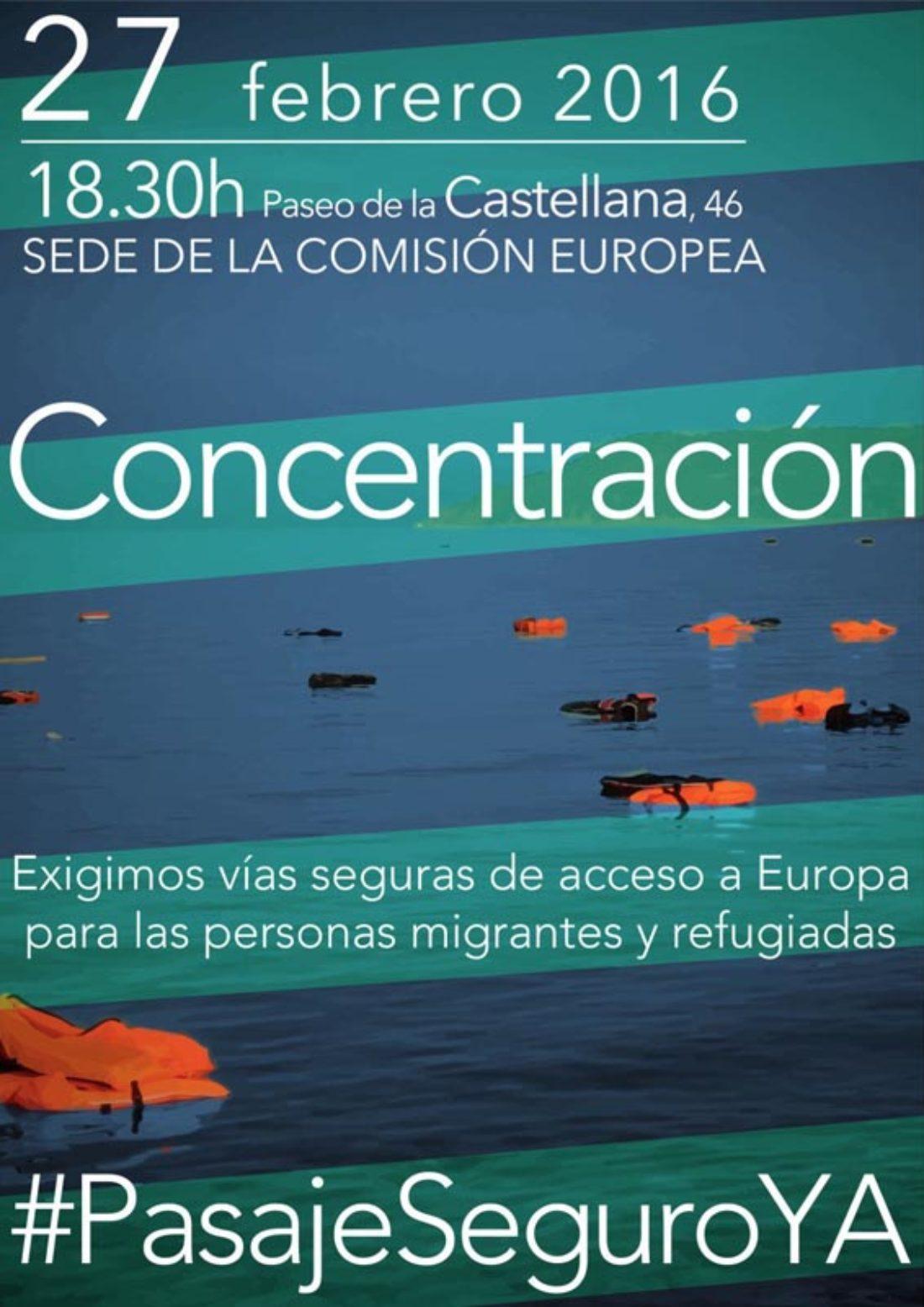 27-F: Concentración de apoyo a las personas refugiadas en Madrid