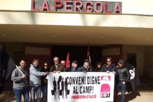 Concentración de CGT Castelló contra la pérdida de derechos de los y las trabajadoras del campo