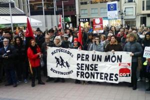 Concentración en Castelló por un mundo sin fronteras: No al Acuerdo UE-Turquía