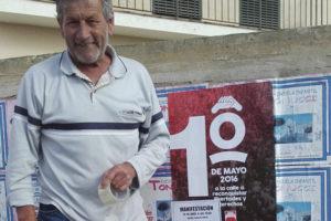 Fallece en el acto Antonio Páez, histórico sindicalista onubense, al terminar su discurso en la manifestación sindical unitaria del primero de mayo