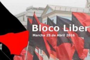 (Lisboa) Bloco Libertário na marcha do 25 de Abril