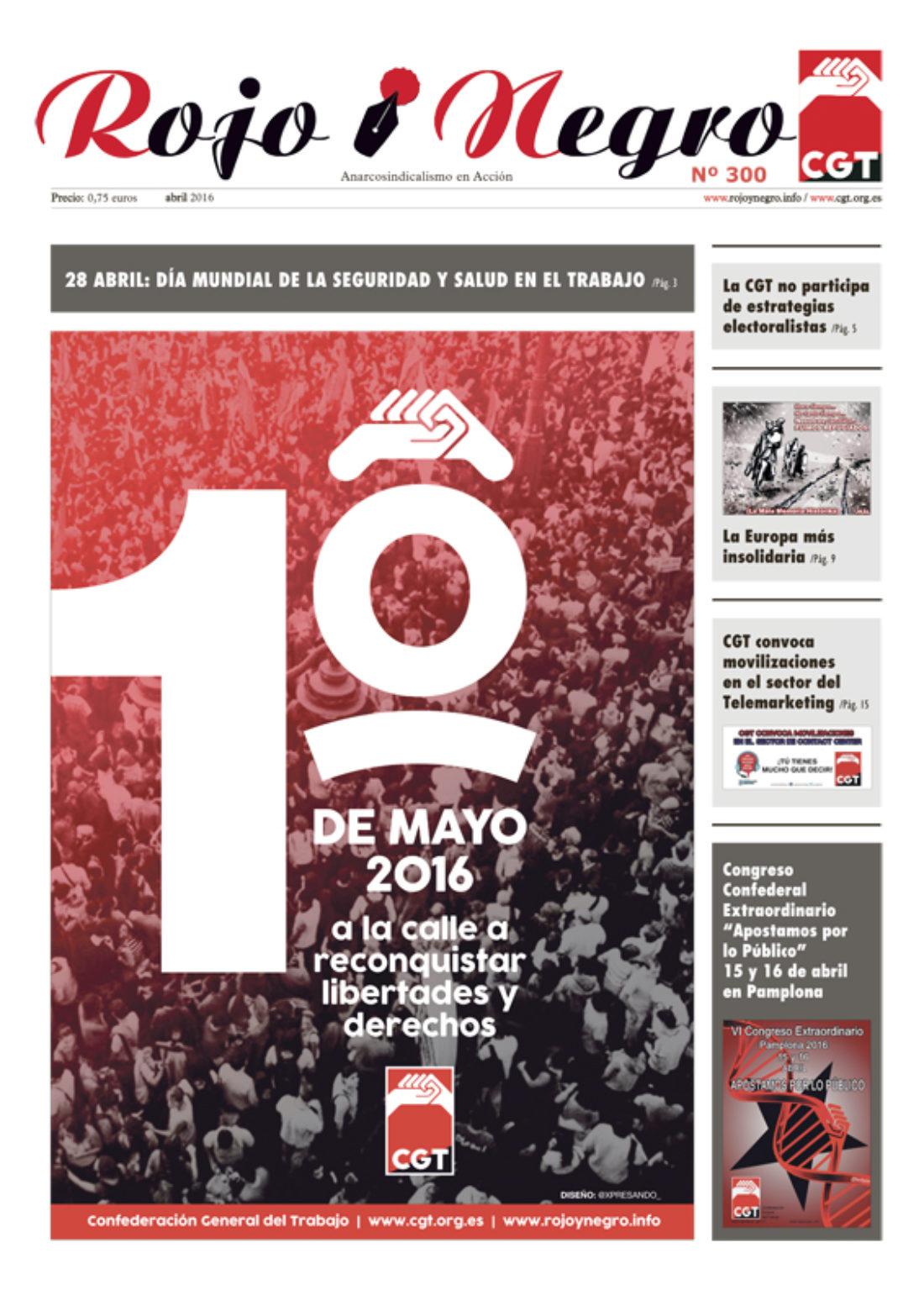 Rojo y Negro Nº 300, abril 2016