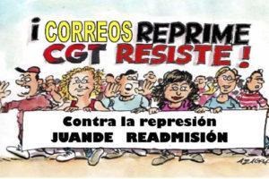 Juande fue, es y será… delegado sindical de la CGT de Correos… por más que le pese a la empresa