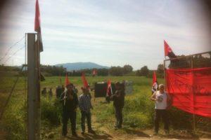 21 de mayo 2015, 11h, acto en Pizarra en apoyo a los imputados por la simbólica ocupación de una parcela de tierra en este pueblo malagueño en abril 2013