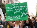 Manifestación estudiantes en Valladolid