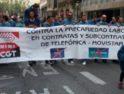 Concentración de trabajadores de contratas, subcontratas y autónomos Movistar