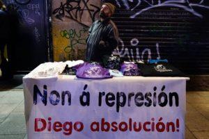CGT condena la represión contra Diego Lores, vecino de Vigo y miembro de la Asemblea Aberta de Coia