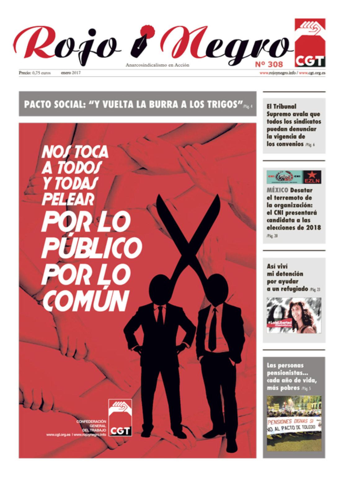 Rojo y Negro Nº 308, enero 2017