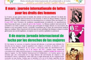 8 de marzo: jornada internacional de lucha por los derechos de las mujeres