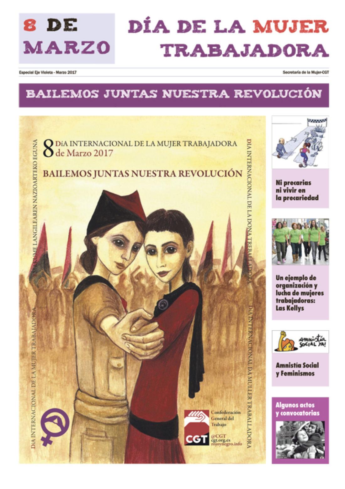 8 de Marzo, Día Internacional de la Mujer Trabajadora: ¡Bailemos juntas nuestra revolución!, marzo 2017