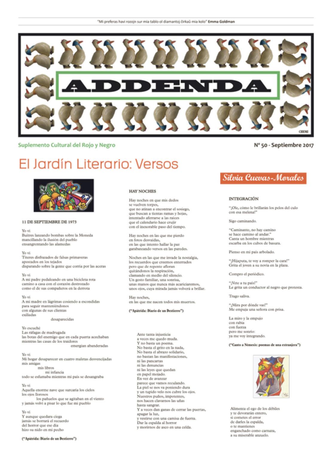 Addenda, suplemento cultural del RyN – Nº 50, septiembre 2017