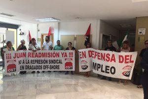 Continúa el conflicto por la readmisión del delegado de CGT despedido en Dragados Offshore tras negarse la empresa a la negociación en el CMAC esta mañana