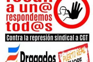 3-O: Nueva concentración por la readmisión del delegado de CGT despedido en Dragados Offshore de Puerto Real