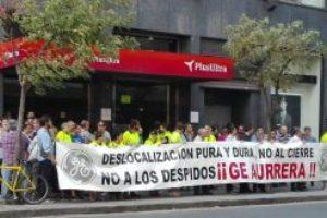 La plantilla de GENERAL ELECTRIC se concentra contra el cierre de la planta de Ortuella