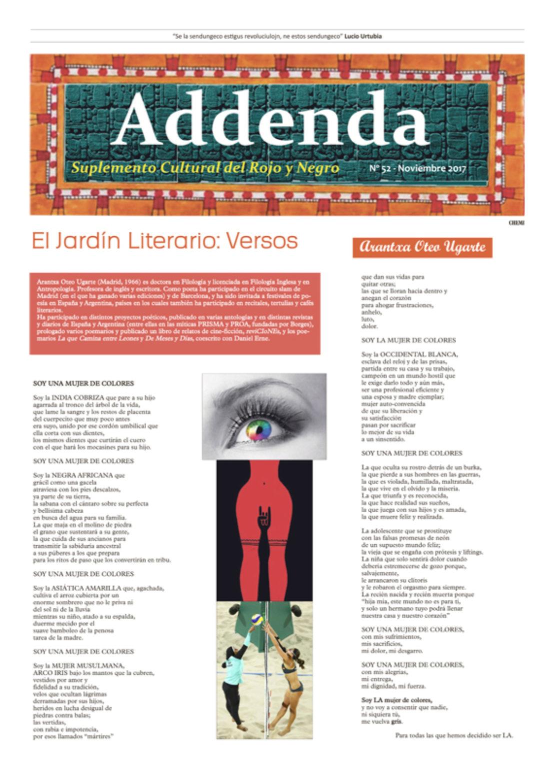 Addenda, suplemento cultural del RyN – Nº 52, noviembre 2017