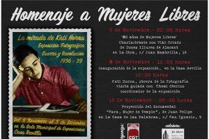 Homenaje a Mujeres Libres en Valladolid