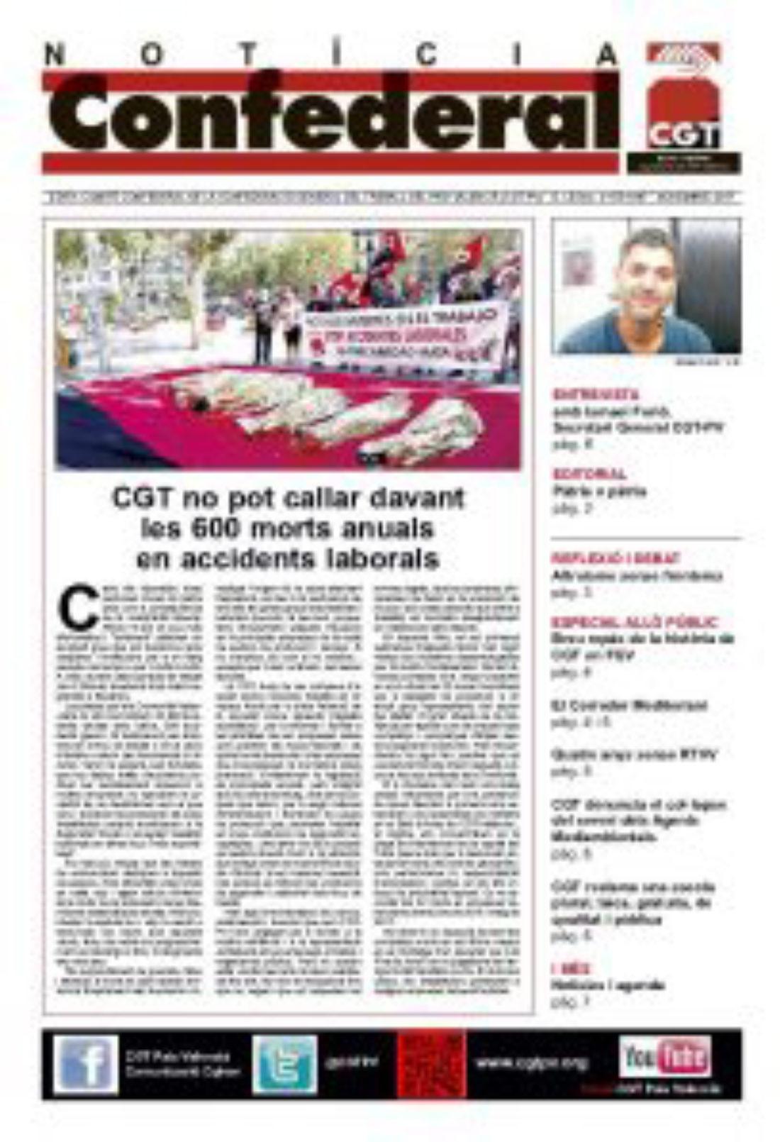 Notícia Confederal Noviembre 2017