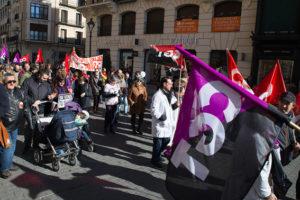Manifestación en Valladolid: «Nos duele la Sanidad»