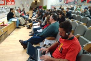 """Ángel Bosqued (CGT): """"Los problemas de la clase trabajadora son similares en todo el mundo porque están causados por las mismas políticas neoliberales que funcionan a nivel global"""""""