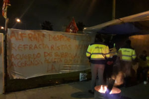 Concentración en protesta por los despidos en Alfran Refractarios