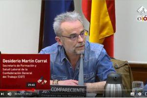 Comparecencia de Desiderio Martín en la Comisión Mixta para la Unión Europea (19/03/2018)