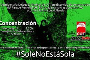 Concentración por la Readmisión de la delegada sindical de CGT en el PR del Río Guadarrama