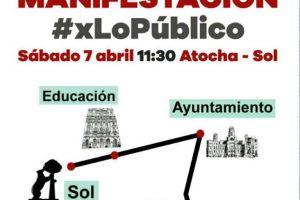 7-A: Manifestación en defensa de lo Público