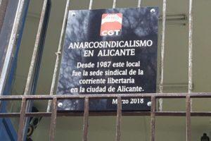 [Fotos] Efeméride del anarcosindicalismo de CGT en Alicante