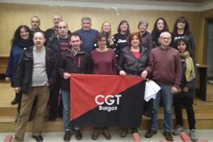 Nuevo Secretariado Permanente del Sindicato Único de Burgos CGT. Cada área estará compuesta por dos co-secretarías (Mujer y hombre)