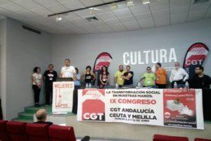 Elegido el nuevo Secretariado Permanente en el IX Congreso de CGT Andalucía, Ceuta y Melilla