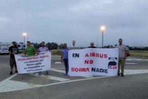 La confluencia sindical gaditana exige la readmisión de los trabajadores despedidos en Airbus