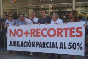 CGT se moviliza ante la reducción de la jubilación parcial a los trabajadores y trabajadoras de la JCyL