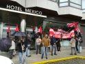 Caravana de concentraciones por los hoteles de Vigo