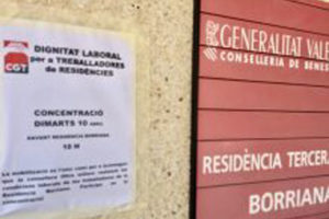 CGT denuncia negligencia institucional en la Residencia de Mayores de Borriana