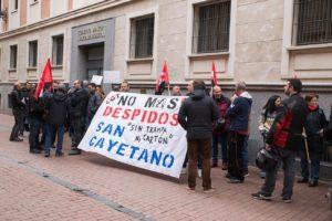 CGT Valladolid contra los despidos en Industrias San Cayetano