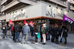 CGT Valladolid en solidaridad con la sección sindical en Carrefour Leganés