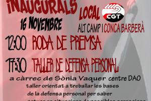 Inauguració CGT Alt Camp i Conca de Barberà