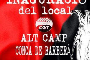 Inauguración de la sede de CGT en Valls (Tarragona)