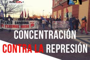 Por la retirada de expedientes. ¡Basta ya de represión!