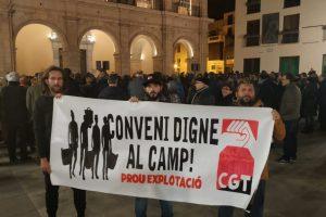 CGT-Castelló reivindica un convenio digno en el campo