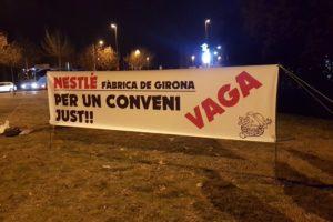 20 de febrero, segunda jornada de Huelga en Nestlé Girona