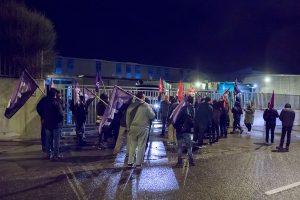 Cargas policiales durante los primeros momentos de huelga general feminista del 8M en Valladolid