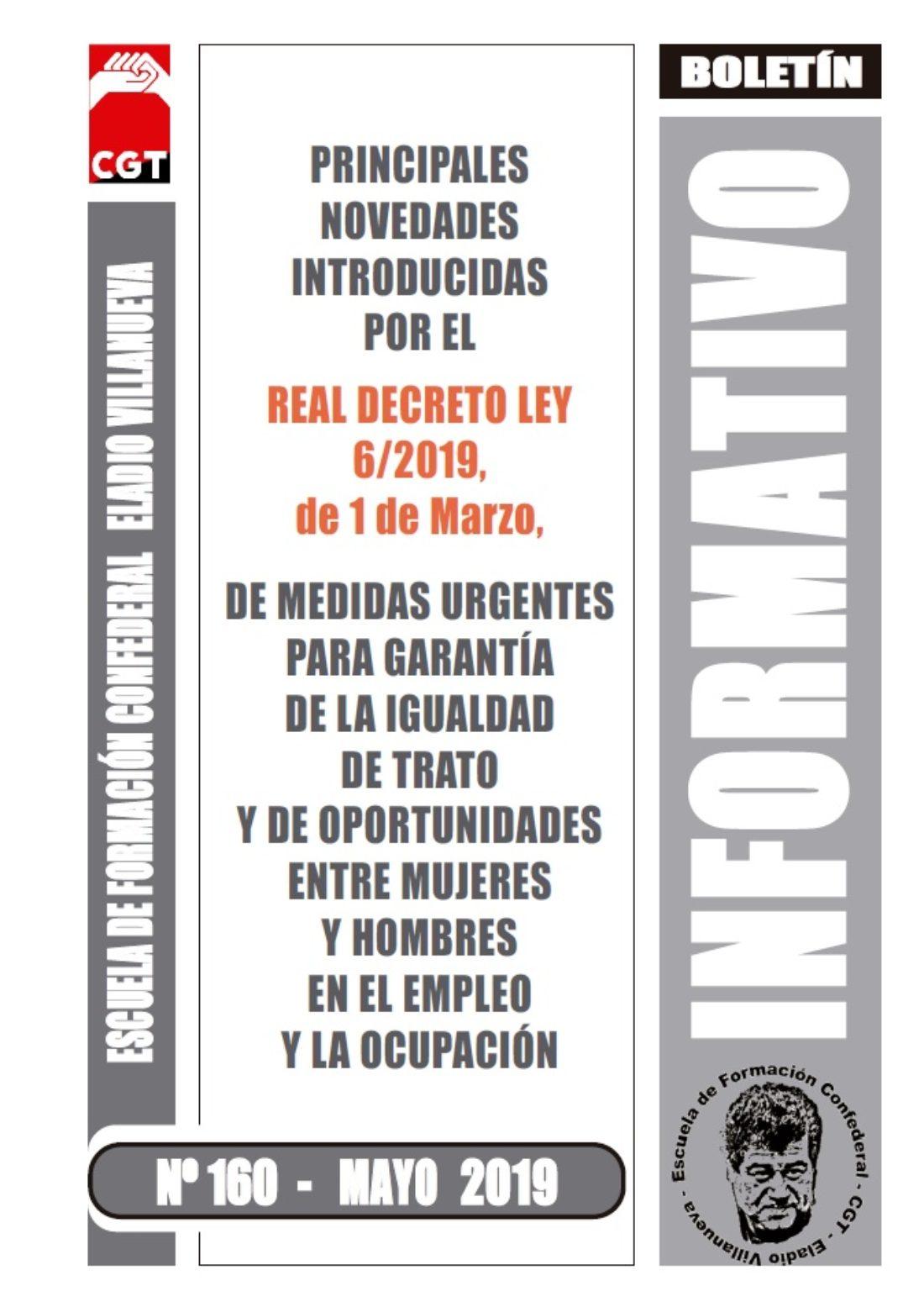 Boletín 160 – Real Decreto Ley 6/2019, del 1 de marzo