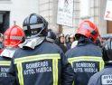 Apoyo de CGT a la manifestación de bomberos del 22 de mayo en Huesca