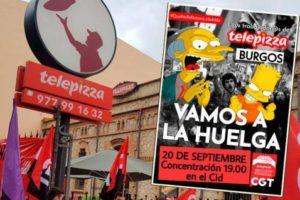 CGT manifiesta que la huelga de Telepizza Burgos ha sido un éxito de participación
