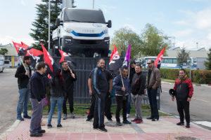 Concentración de CGT Valladolid en Iveco