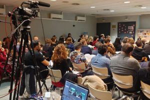 Jornadas sobre precariedad laboral organizadas por la Confederación General del Trabajo (CGT) durante los días 24 y 25 de octubre en Madrid