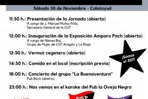 CGT inaugura nuevo sindicato en Calatayud-Aranda