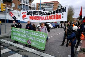 Manifestación en Leganés Por Lo Público