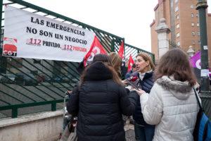 CGT se concentra ante el 112 en Valladolid